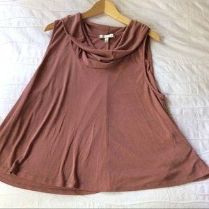 ERI + ALI  sleeveless reddish brown top